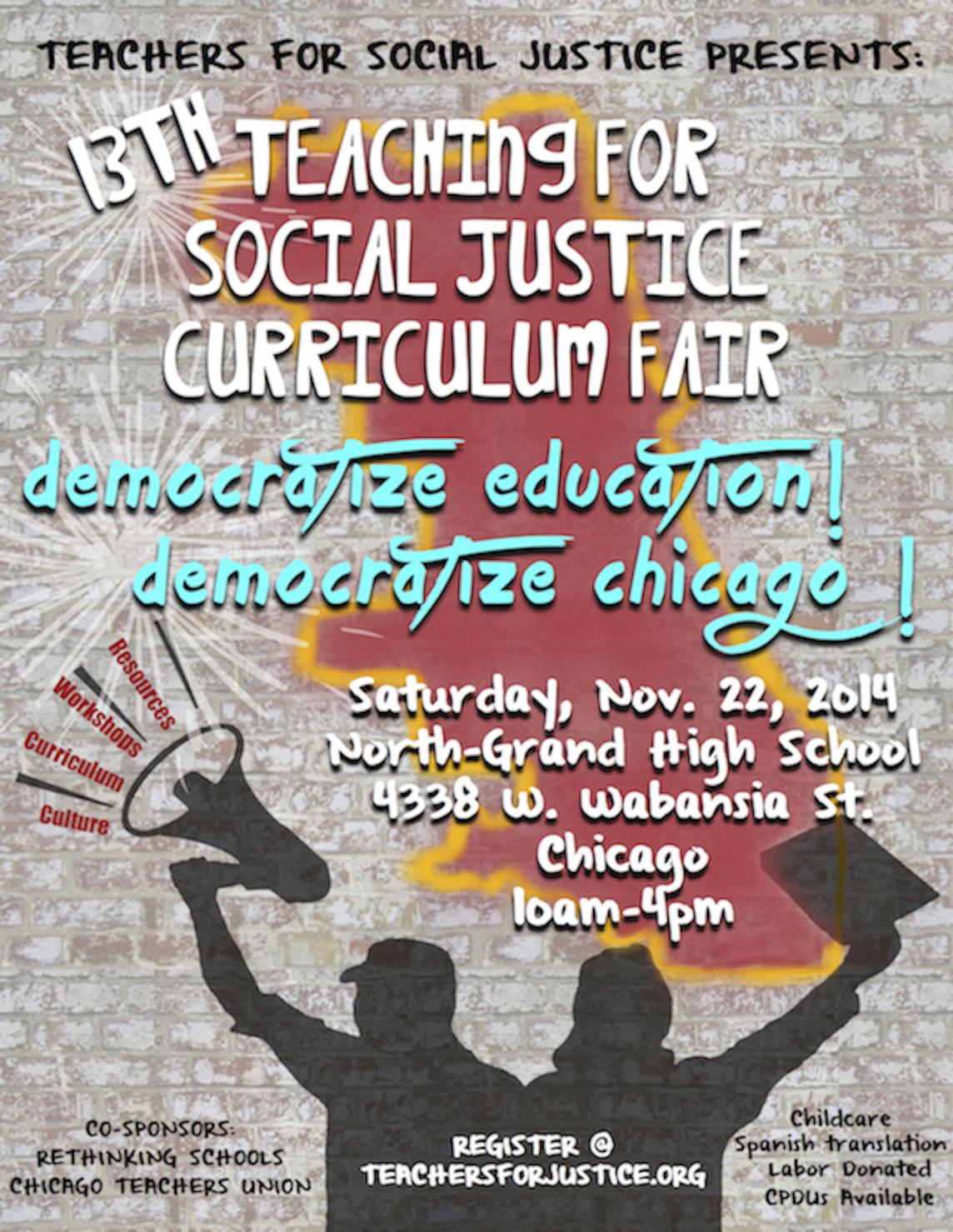 Teachers For Social Justice Curriculum Fair 2014