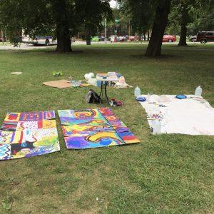 Dyett Hunger Strike painting cardboard